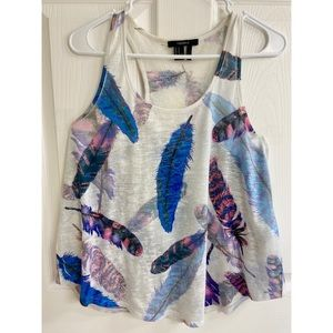 FOREVER 21 Feather Pattern Tank Top